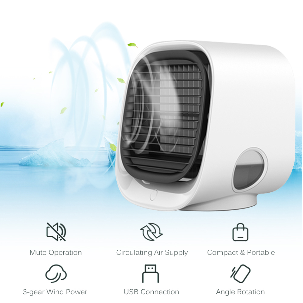 Details about  /Mini Air Conditioning Multi Function Cooling Fan