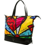 50014-6918-M Medium Britto Packaway Tote Handbag Purse, Britto New Day