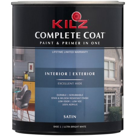 Kilz® Complete Coat™ Ultra Bright White Satin Paint & Primer 31.5 fl. oz. Can