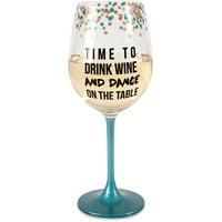 Pavilion- Time to Drink Wine  12 oz. Wine Glass