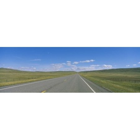 Landscape Route - Interstate Highway Passing Through A Landscape Route 89 Montana USA Canvas Art - Panoramic Images (18 x 6)