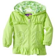Pink Platinum Baby Girls' Hearts Of Leopard Spring Jacket Raincoat