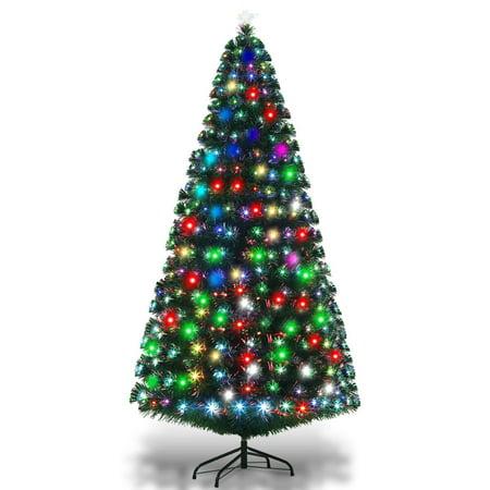 7ft Fiber Optic Artificial Christmas Tree W 275 Multi