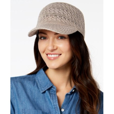 46bd4d331 INC International Concepts Crochet Packable Baseball Hat Taupe ONE SIZE