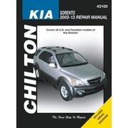 Kia Sorento Repair Manual: 2003-2013