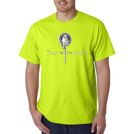 Hand Shift (Trendy USA 406 - Unisex T-Shirt Talk To The Hand Game Of Thrones King Parody 3XL Safety)
