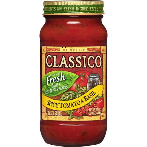 Classico Signature Recipes Spicy Tomato & Basil Pasta Sauce, 24 oz