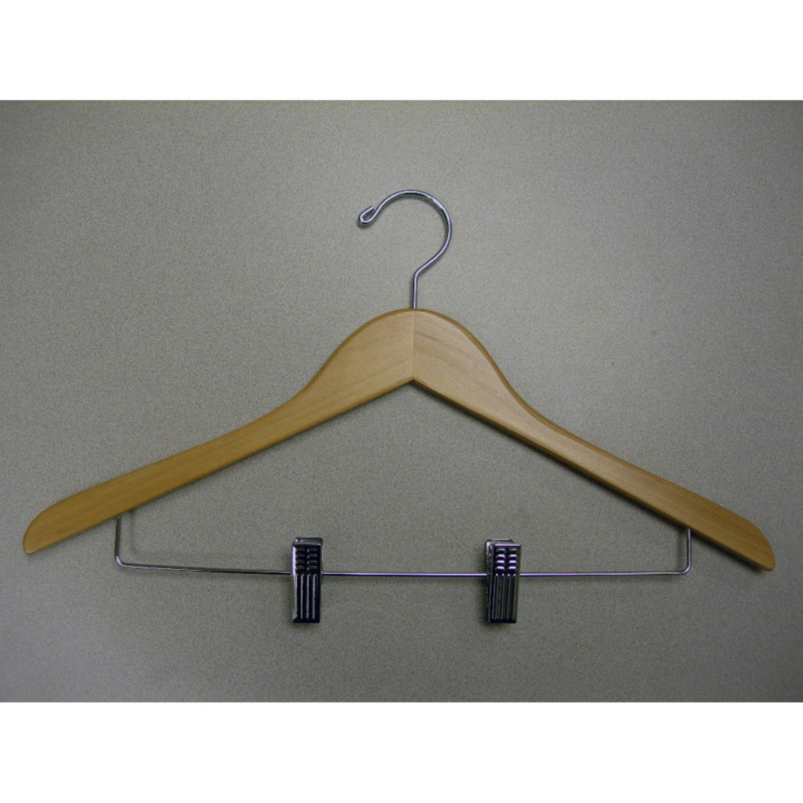 Proman Genesis Flat Suit Hanger with Wire Clips - 50 Pieces
