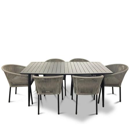 Strange Courtyard Casual Osborne Black Aluminum Outdoor Dining Set W Uwap Interior Chair Design Uwaporg