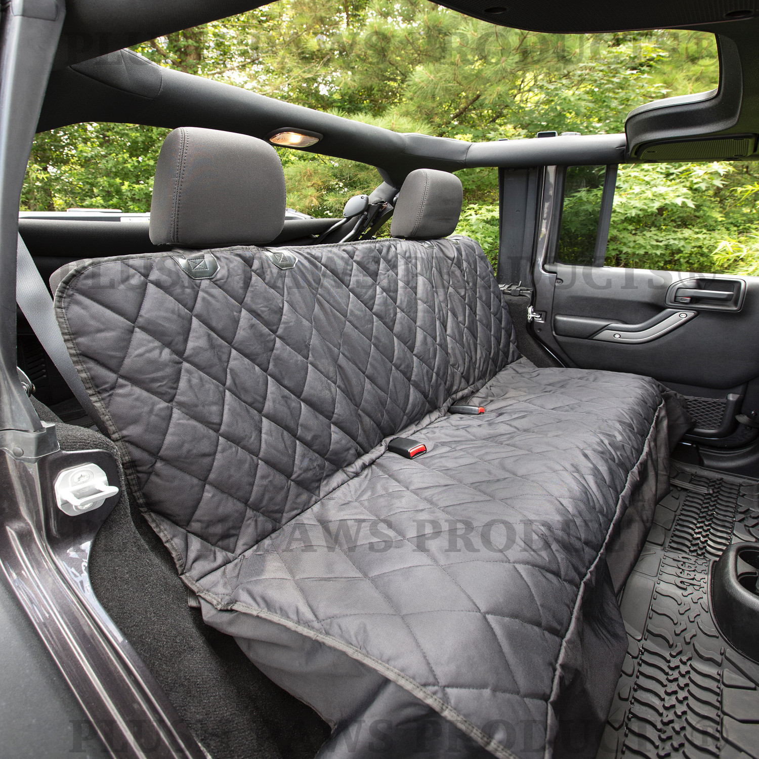Plush Paws Products Pet Car Seat Cover Regular - Black - Walmart.com : quilted car seats - Adamdwight.com