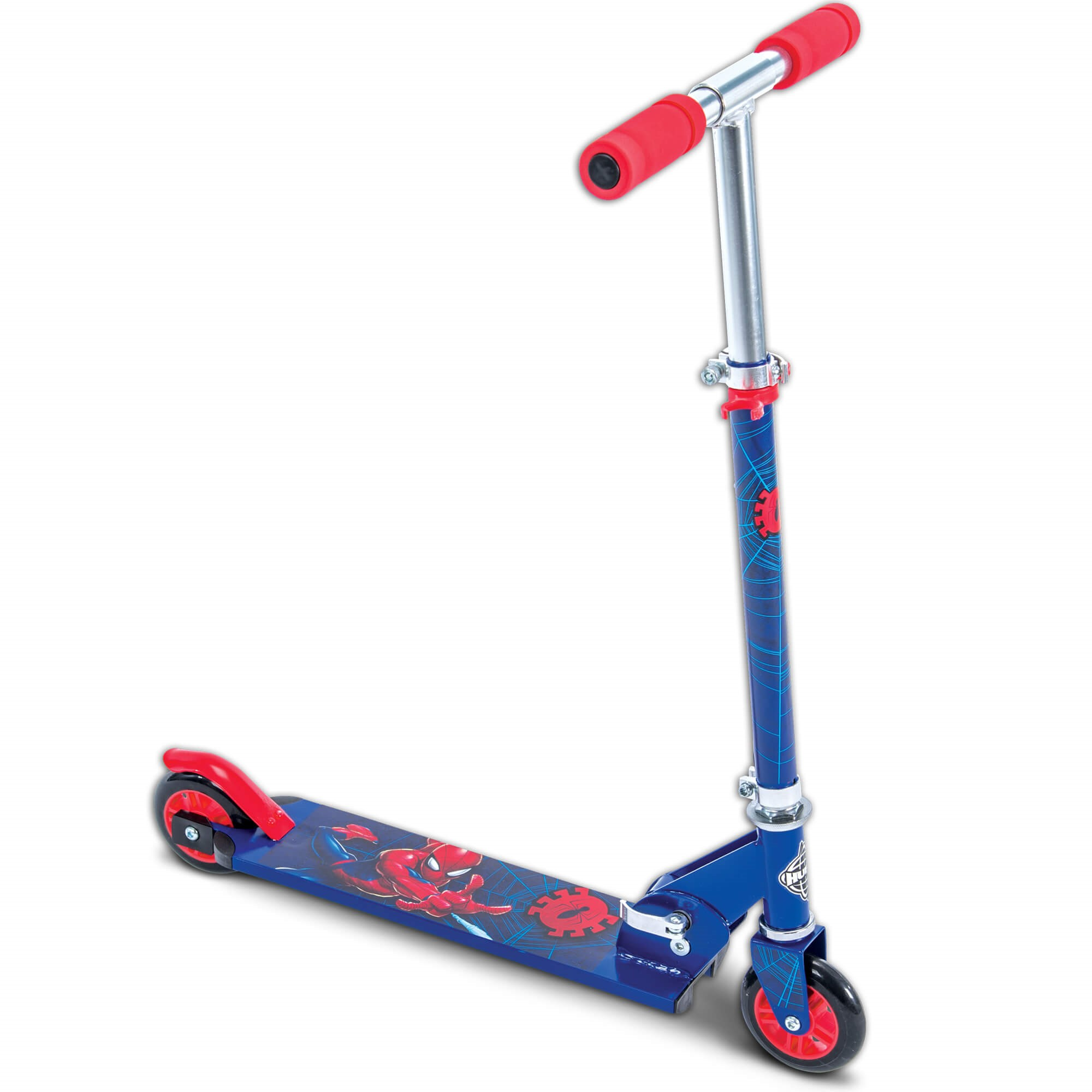 Marvel Spider-Man Boys' Inline Folding Scooter, by Huffy