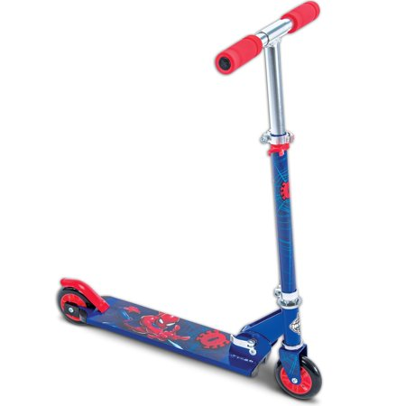 Marvel Spider-Man Boys' Inline Folding Scooter, by (Mens Scooter)