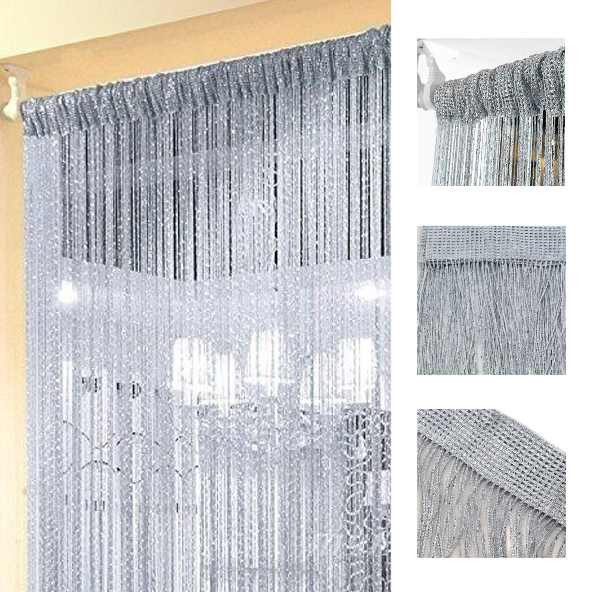 Asewin Decorative Door String Curtain Wall Panel Fringe Window Room Divider Blind Divider Crystal Tassel Screen Home