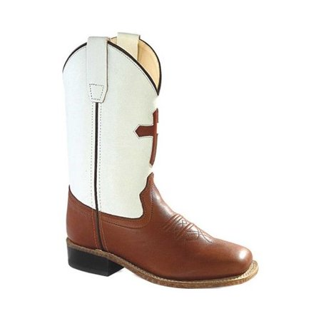 Children's Old West 9 Inch Broad Square Toe Goodyear Welt Cowboy Boot