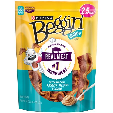 Purina Beggin' Strips Bacon & Peanut Butter Flavor Dog Treats - 40 oz. Pouch