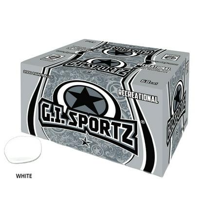 GI SPORTZ 1 STAR RECREATIONAL PAINTBALLS 2000 Rounds - WHITE FILL ()