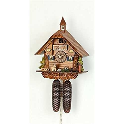 German Cuckoo Clock 8-day-movement Chalet-Style 12 inch Authentic black forest cuckoo clock by Hekas by