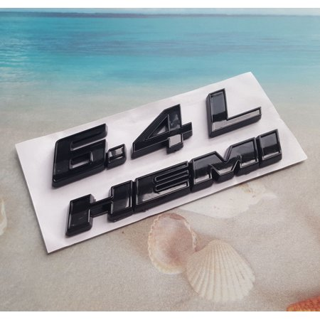 ABS Black 6.4L HEMI Emblem Body Badge Decal Sticker Dodge Ram Charger Jeep