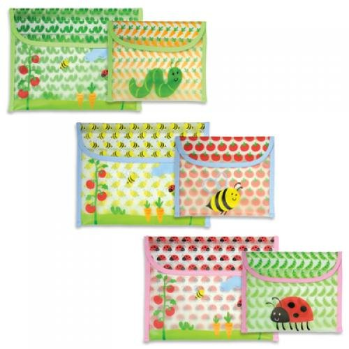Green Sprouts 1174788 Reusable Snack Bag Garden Pattern 2 Pack