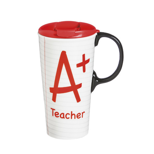 Evergreen Enterprises, Inc A+ Teacher Notebook Paper Ceramic 17 oz. Perfect Cup