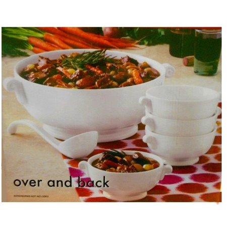 Over and Back Porcelain Bowl Serving Set- 6 Pieces - Walmart.com