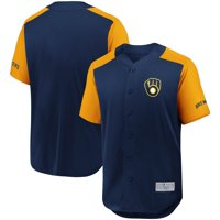 Milwaukee Brewers Fanatics Branded Grand Slam Full-Button Jersey - Navy/Gold