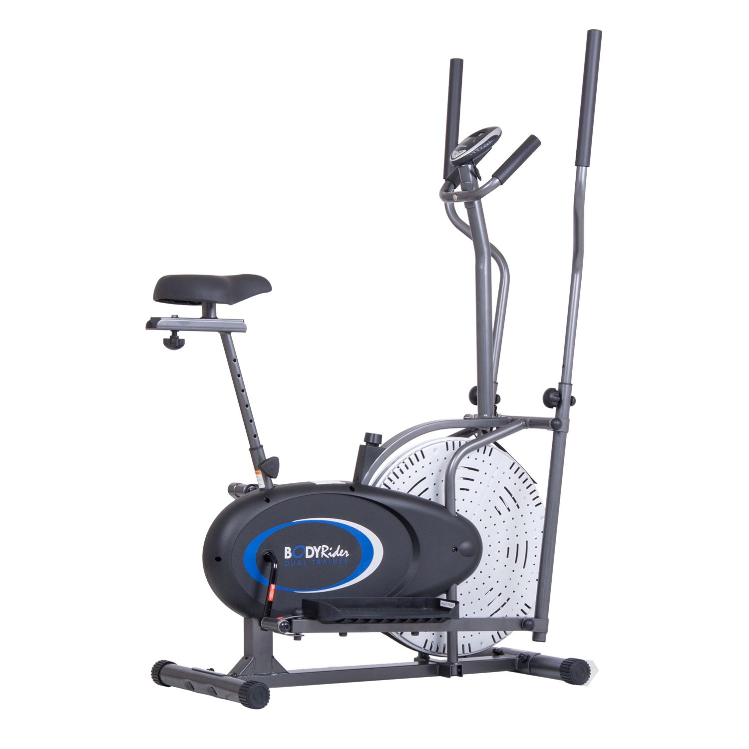 Body Rider BRD2835 2-in-1 Cardio Dual Trainer Elliptical & Upright Bike