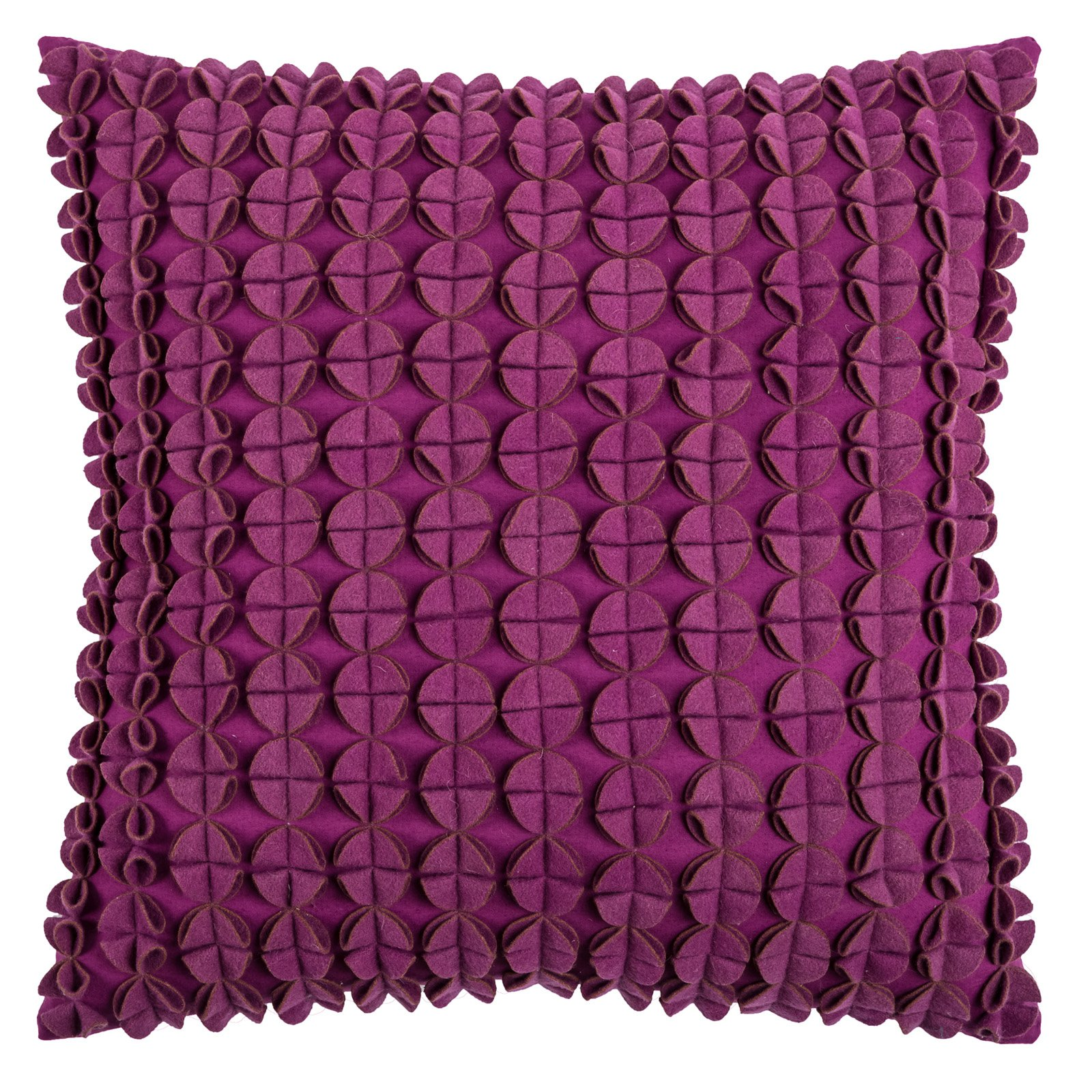"Rizzy Home Decorative Poly Filled Throw Pillow Textured Dots 20""X20"" Purple"