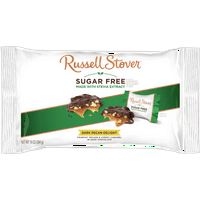 Russell Stover Sugar Free Dark Chocolate Pecan DELIGHT Laydown Bag 10 Oz.