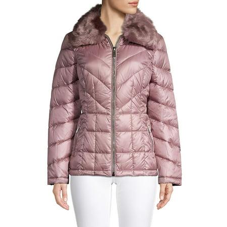 Faux Fur Collar Puffer Coats