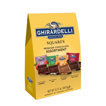Ghirardelli Peppermint Bark Squares (Ghirardelli Premium Milk and Dark Chocolate Assortment, 15.77 Oz )