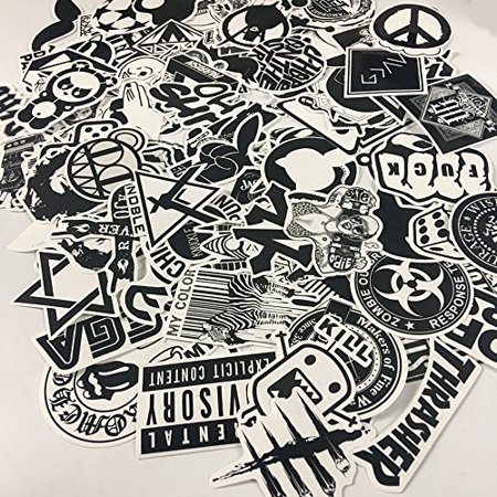 120PCS Black White Vinyl Sticker Graffiti Decal Perfect to Laptops, Skateboards, Luggage, Cars, Bumpers, Bikes, - image 6 of 6