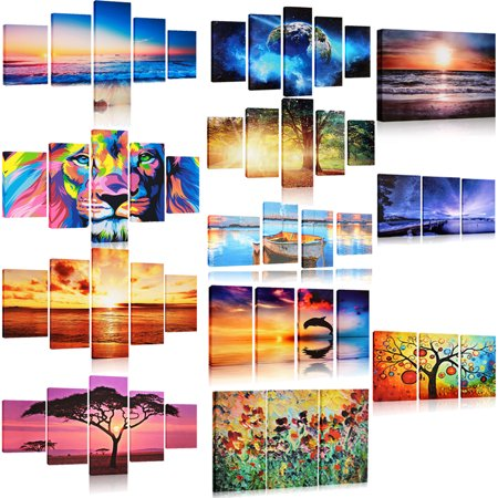8 Styles Modern Unframed Abstract Canvas Art Painting Picture Decorative Home Wall Decor