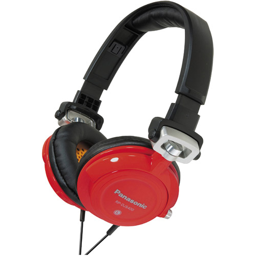 Panasonic RP-DJS400 - Headphones - full size - wired - 3.5 mm jack - gray, orange