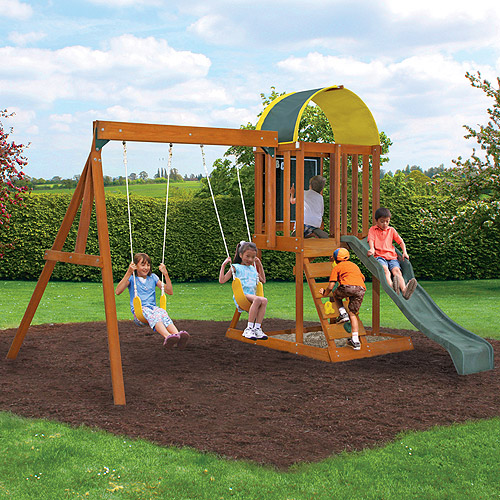 Cedar Summit Premium Play Sets Ainsley Ready to Assemble Wooden Swing Set