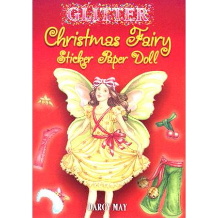 Glitter Christmas Fairy Sticker Paper Doll - Fairy Stickers