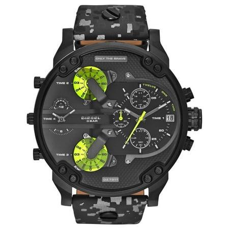 Diesel Chronograph (Diesel Men's Mr. Daddy 2.0 Black Camo Chronograph Watch DZ7311 )