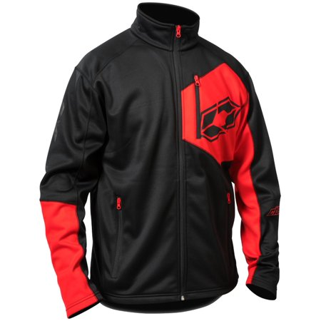 Castle X Fusion G2 Mens Mid-Layer Jacket Black/Red (Fusion Motorcycle)