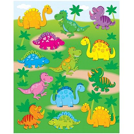Dinosaurs Shape Stickers - Dinosaur Stickers