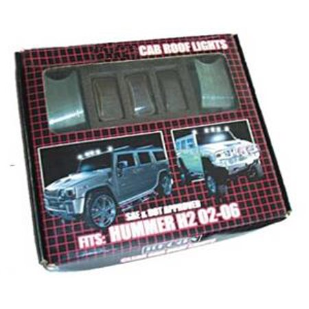 - One H2 Hummer 02-06 Cab Roof Clear Lens Light Kit with Bulbs