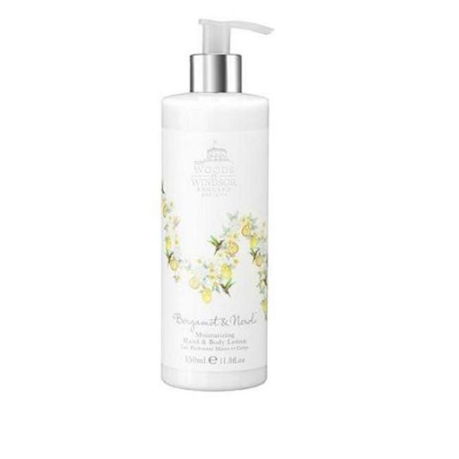Woods of Windsor W240001-6 350ml Hand and Body Lotion - Bergamot and Neroli