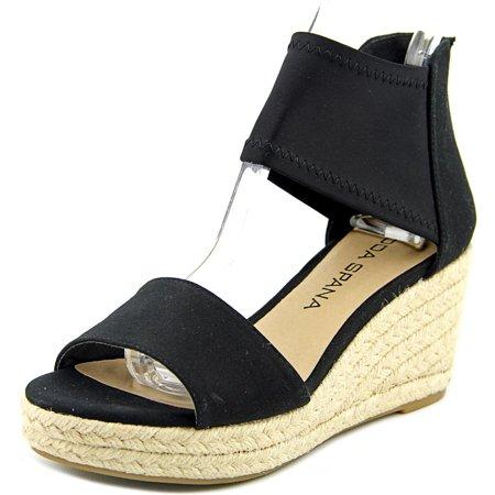 206d082202cd Moda Spana - Moda Spana Kacy Women Open Toe Canvas Black Wedge Sandal -  Walmart.com
