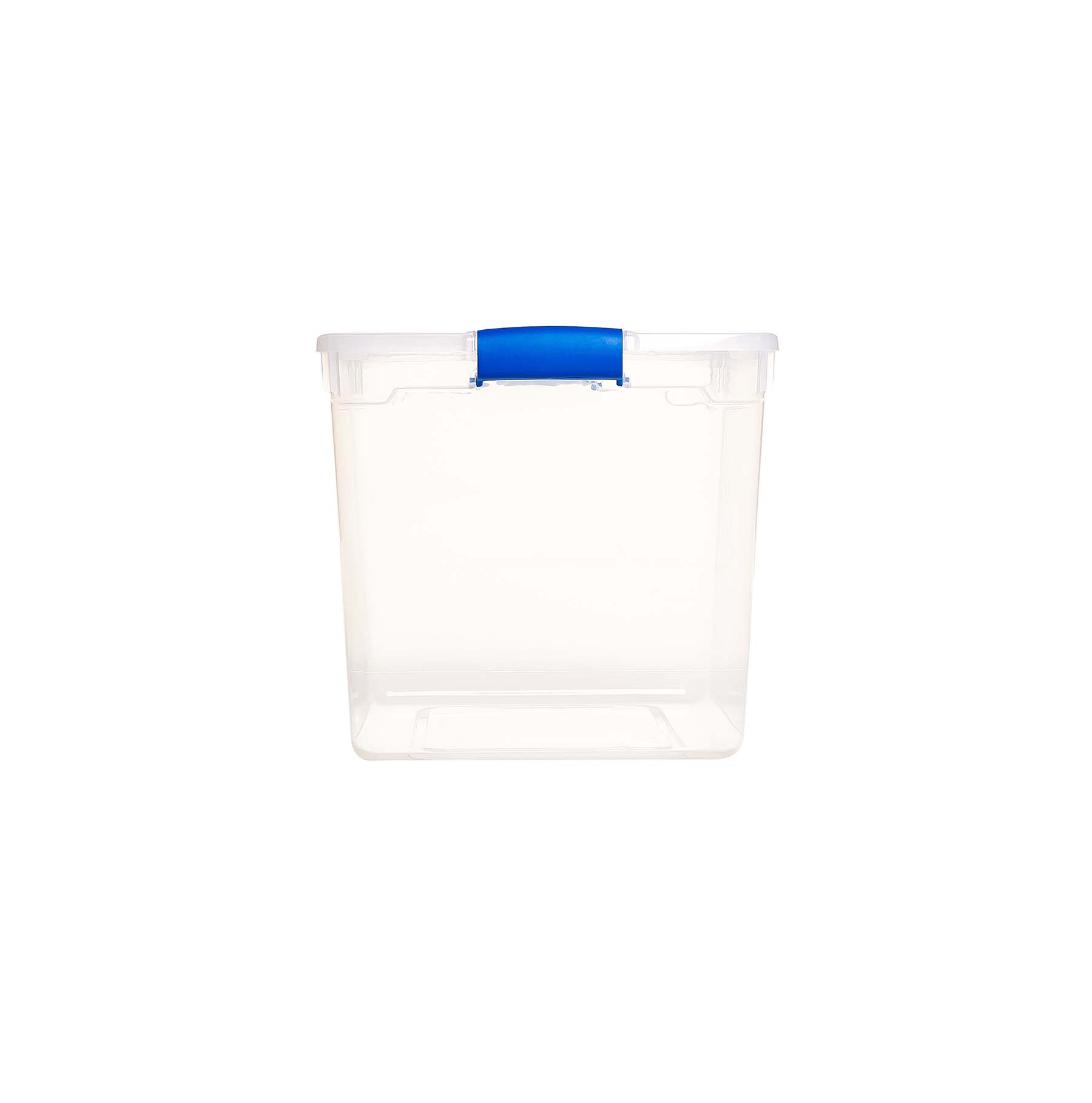 1452b9c07a87 Homz 31 Qt. Clear Latching Storage Containers, Clear/Blue, Set of 4
