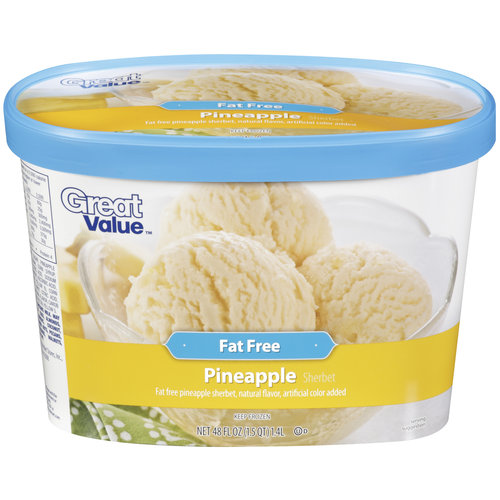Great Value Ff Pineapple Sherbet 48 Oz
