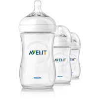 3 Pack Philips Avent BPA Free Natural Baby Bottles (9 Ounce)