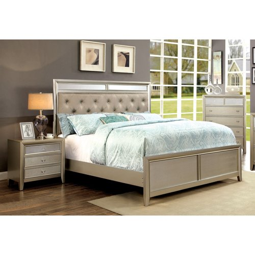Furniture of America Mallorie 2-Piece Silver Bedroom Set, Multiple Sizes by Furniture of America