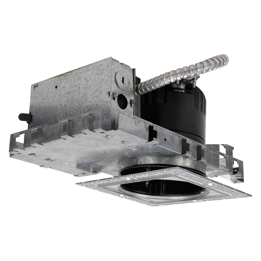 WAC Lighting 4in LEDme DOWNLIGHT NEW CONSTRUCTION HOUSING NON IC 4500K 18W FOR SQUARE TRIM