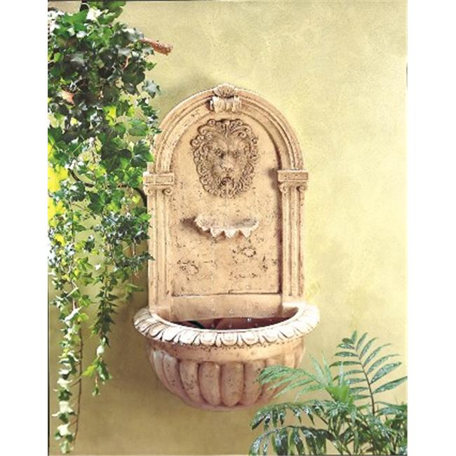 Zingz & Thingz 57070051 Regal Lions Head Wall Fountain
