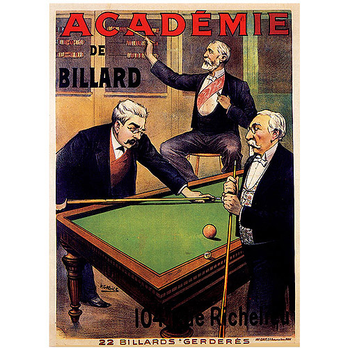 "Trademark Fine Art ""Acadamie de Billiards"" Canvas Art"