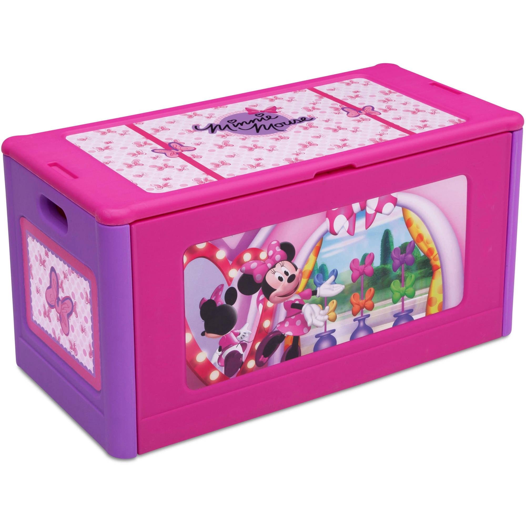 Disney Minnie Mouse Store & Organize Plastic Toy Box by Delta Children by Delta Children